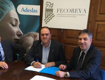 Fecoreva firma un convenio de colaboración con Adeslas