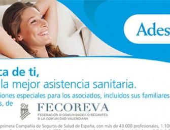 Promoción de seguro de salud Adeslas para Fecoreva