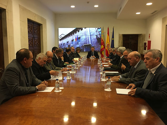 La Comisión Permanente de Fecoreva con el President de la Generalitat