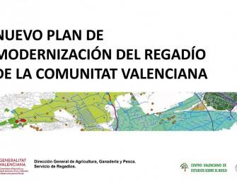 Presentación del Nuevo Plan de Modernización de Regadíos
